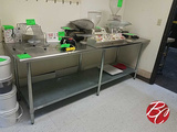 Duke Stainless Steel Table W/ Galvinized Bottom 8'