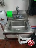 Elkay Stainless Steel Wall Mounted Hand Sink