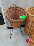 Wicker Basket W/ Stand