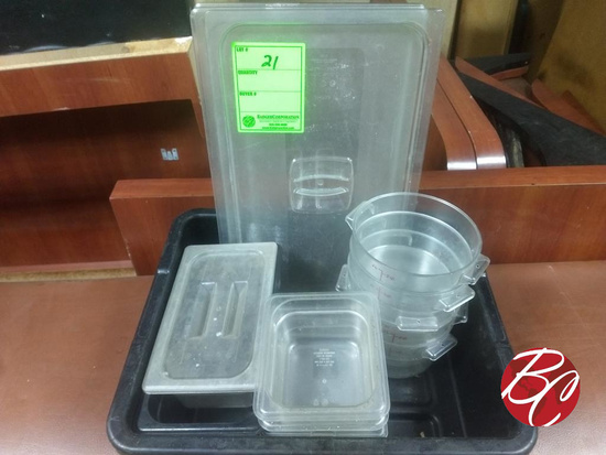 Pan Of Cambro Containers