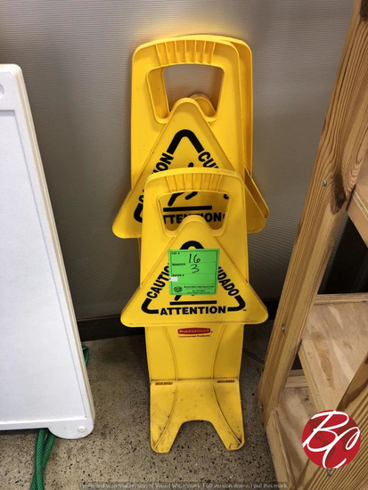 Rubbermaid Caution Wet Floor Signs
