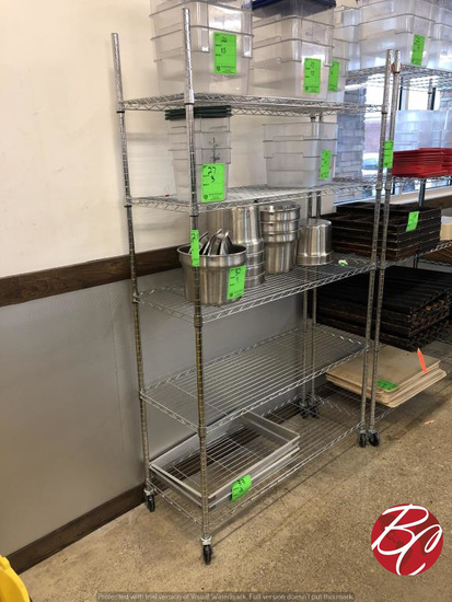 "Chrome Metro Rack On Casters 48""x18""x81 1/2"""
