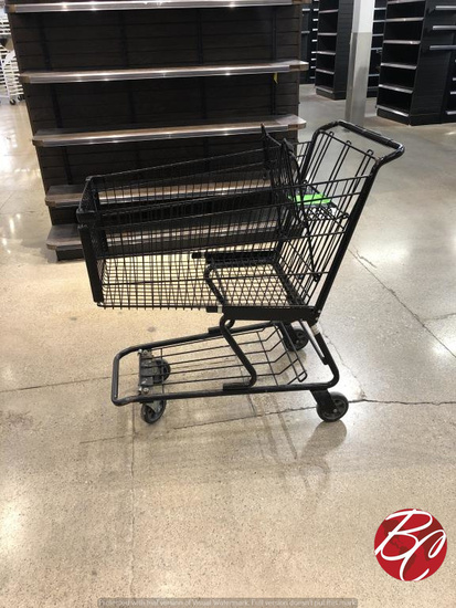 Technibilt 6142 Black Shopping Carts