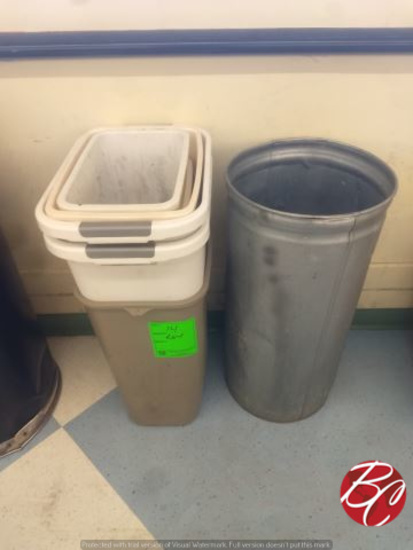 Lot Of Assorted Waste Baskets