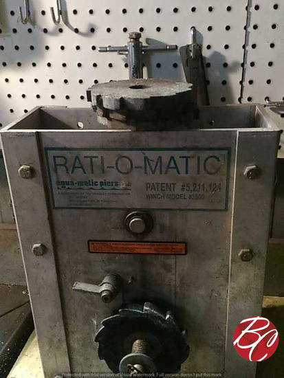 Rati-o-matic Boat Lift Winch Box