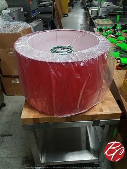 New Red Exterior/ White Interior Medium Drum