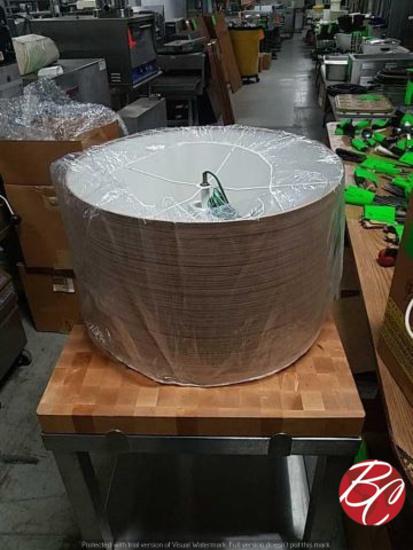 New Wood Grain Exterior White Inside Medium Drum