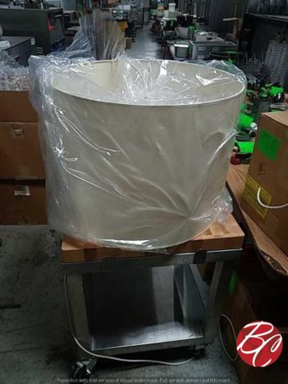 New White Exterior White Inside Medium Drum