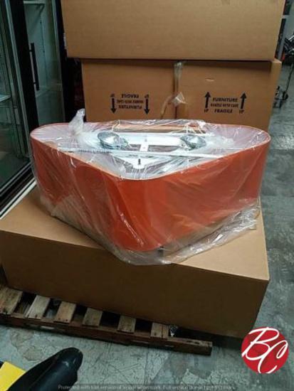 New Large Triangular Orange Exterior Pendant
