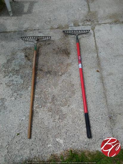Bow Rakes W/ Fiberglass Handles