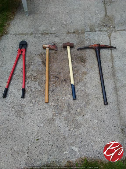 Assorted Lot Of Heavy Industrial Tools