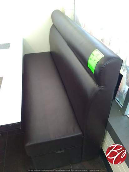 """WeiLin 66"""" Vinyl Upholstered Booth Bench"""