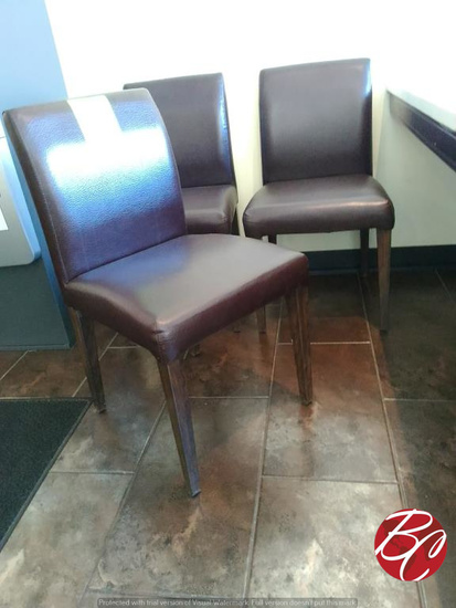 Vinyl Upholstered Dining Chairs