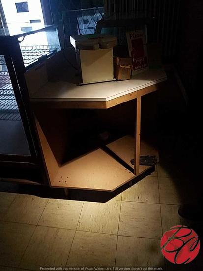 "Wood Corner Cabinet 35""x35""x42"""
