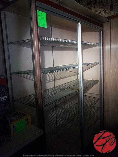 "Wood Glass Display Cabinet 60""x21""x81"""