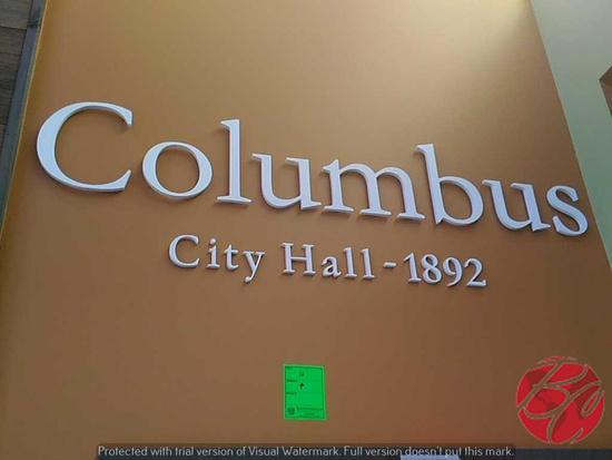 Columbus City Hall -1892 Wall Sign
