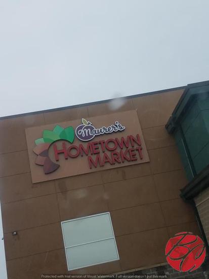 Maurer's Home Town Market Sign