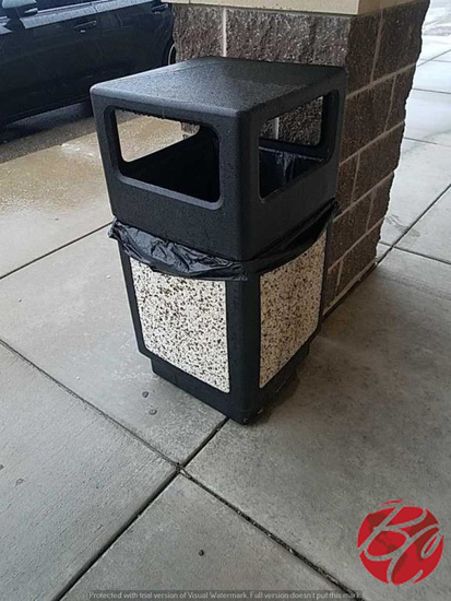 Outside Garbage Cans