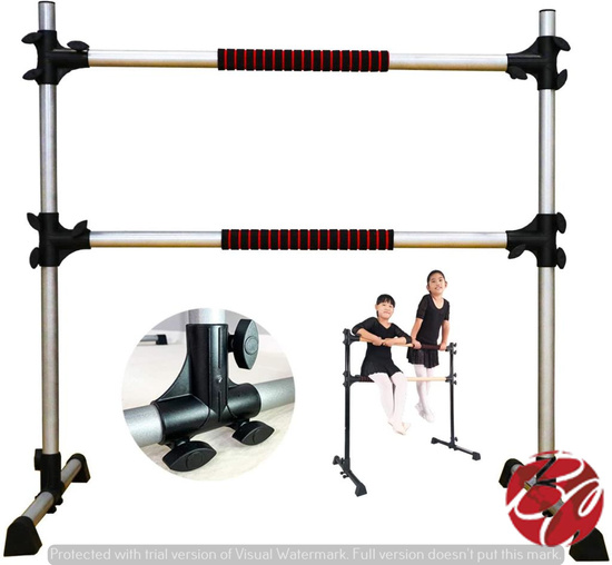 4 ft Adjustable & Portable Double Freestanding