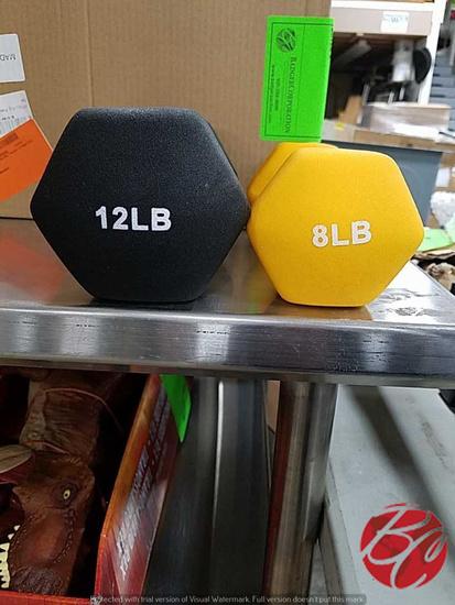 Hand Weights (2) #8 (2) #12 Plus Weight Holder