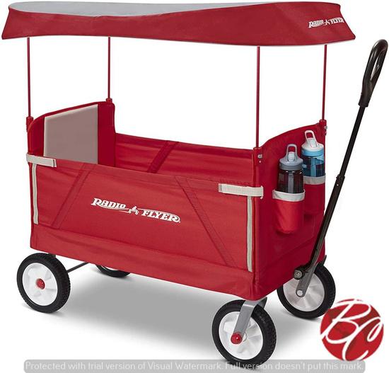 Radio Flyer 3 in 1 Ez Fold Wagon W/ Canopy