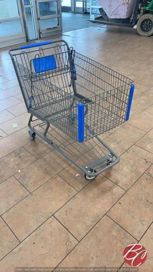 Large Metal Shopping Cart