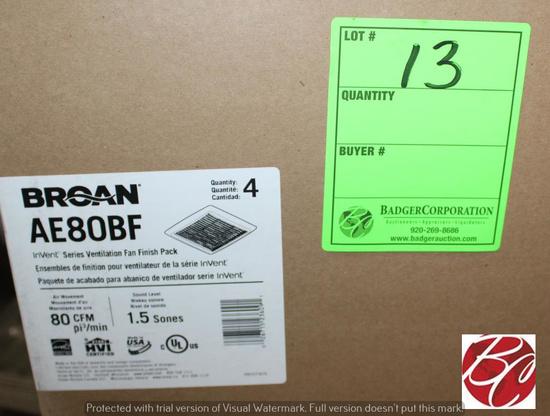 Box of Broan AE80BF Ventilation Fan Finish Packs