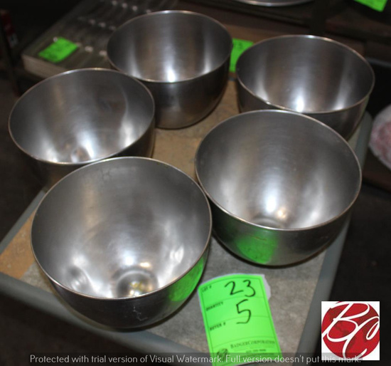 Stainless Steel Mixing Bowls 4.5-5 Qt.
