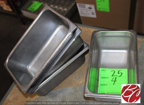 Stainless Steel 1/3 Pan Inserts