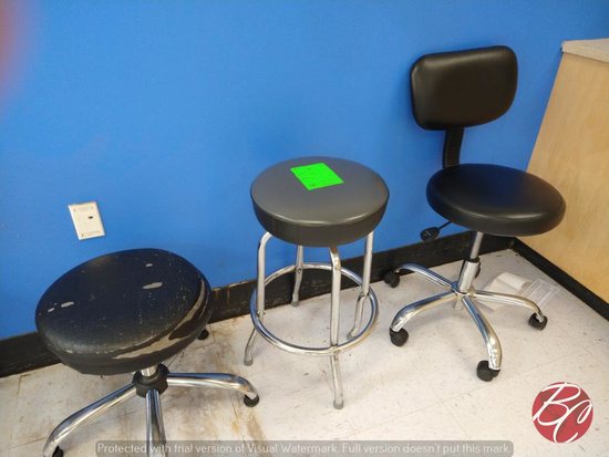 Padded Stools and Chair