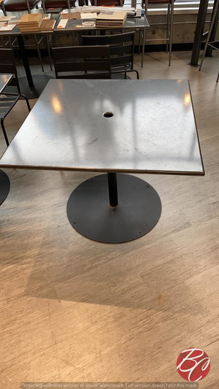 """Metal Square Patio Tables W/ Round Bases 36""""x36"""""""