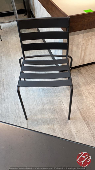 Cast Iron Black Outside Patio Chairs