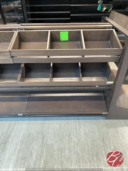 Innovative Wood Adjustable Produce Displays