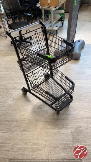 2019 Black Double Basket Shopping Carts