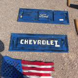 DECORATIVE METAL CHEVROLET TAILGATE