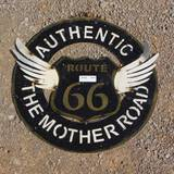 METAL ROUTE 66 WALL ART