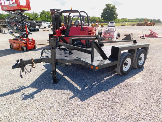 2000 LOW LOADER 6' x 12' T/A ELEVATED TRAILER