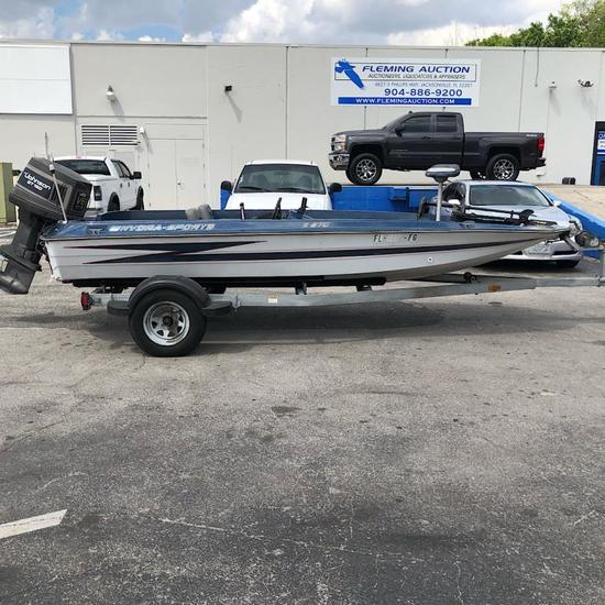 1998 HYDRA SPORTS X 270 BASS BOAT OUTBOARD