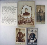 LOT OF 4 ANTIQUE PHOTOS OF WW1 IMPERIAL GERMAN SOL