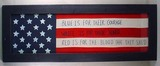 LARGE FRAMED AMERICAN FLAG INSPIRED FOLK ART DISPL