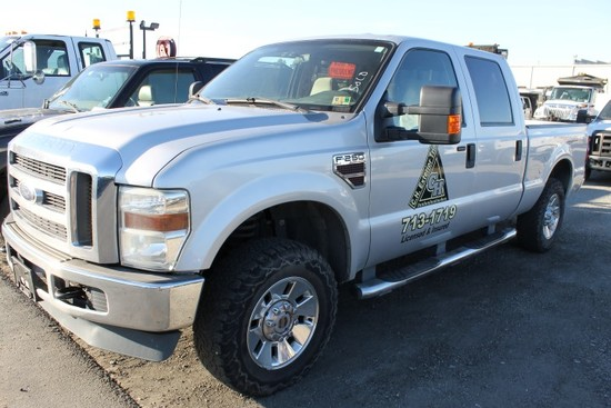 2008 Ford F250 XLT Super Duty 4x4 Crew Cab Pickup Truck (NEEDS REPAIR)
