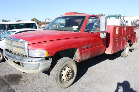 2001 Dodge Ram 3500 Service Truck (Starts & Moves-No Reverse)