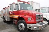 1998 Freightliner FL60 Crew Cab Fire Truck (PUMP HAS MISSING PARTS)
