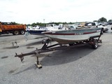 2 Pcs.:  (1) 1988 Tracker 17' Aluminum Boat; (1) Tracker S/A Boat Trailer (BOAT TRAILER: PARTS ONLY
