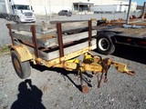 1976 Baker 7' x 5' S/A Stake Body Utility Trailer (Unit #753 0503)