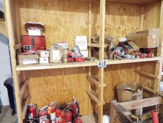 Wooden Shelving Unit w/Contents