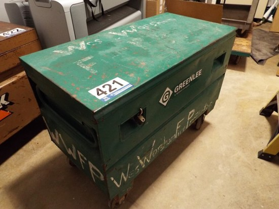 Greenlee Job Site Tool Box on Casters