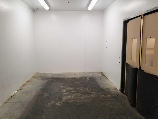 Insulated Cooler Room; Overhead Lights