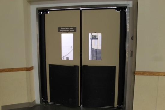 Break Away Cooler Room; (3) Mueller Double Swinging Doors