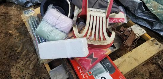 Lawn Chairs; Ship; Hot Plate; American Flag and Pole; Walking Stick
